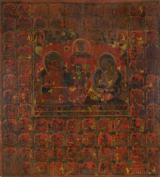 Rare and important Thangka with two Mahasiddha - photo 1