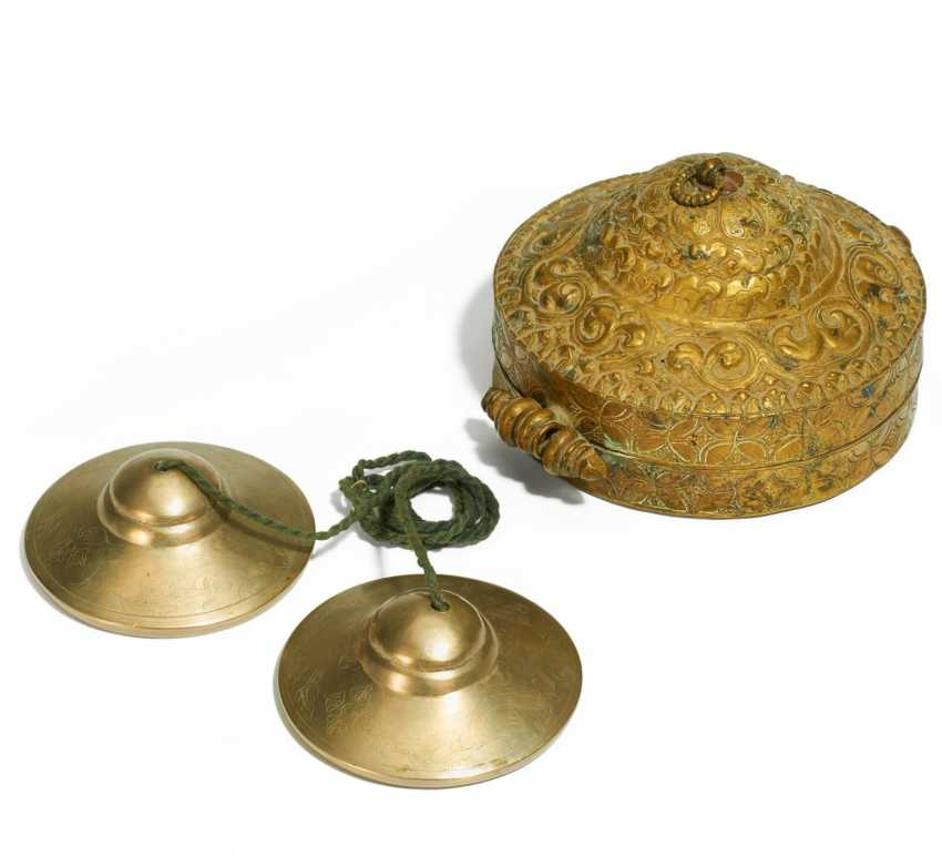 Pair of tingsha-cymbals with storage box - photo 1