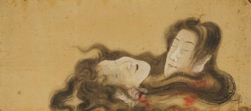 Severed heads of a double suicide (shinjû) - photo 1