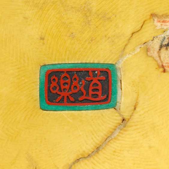 Okimono of a fisherman with a control sheet - photo 2