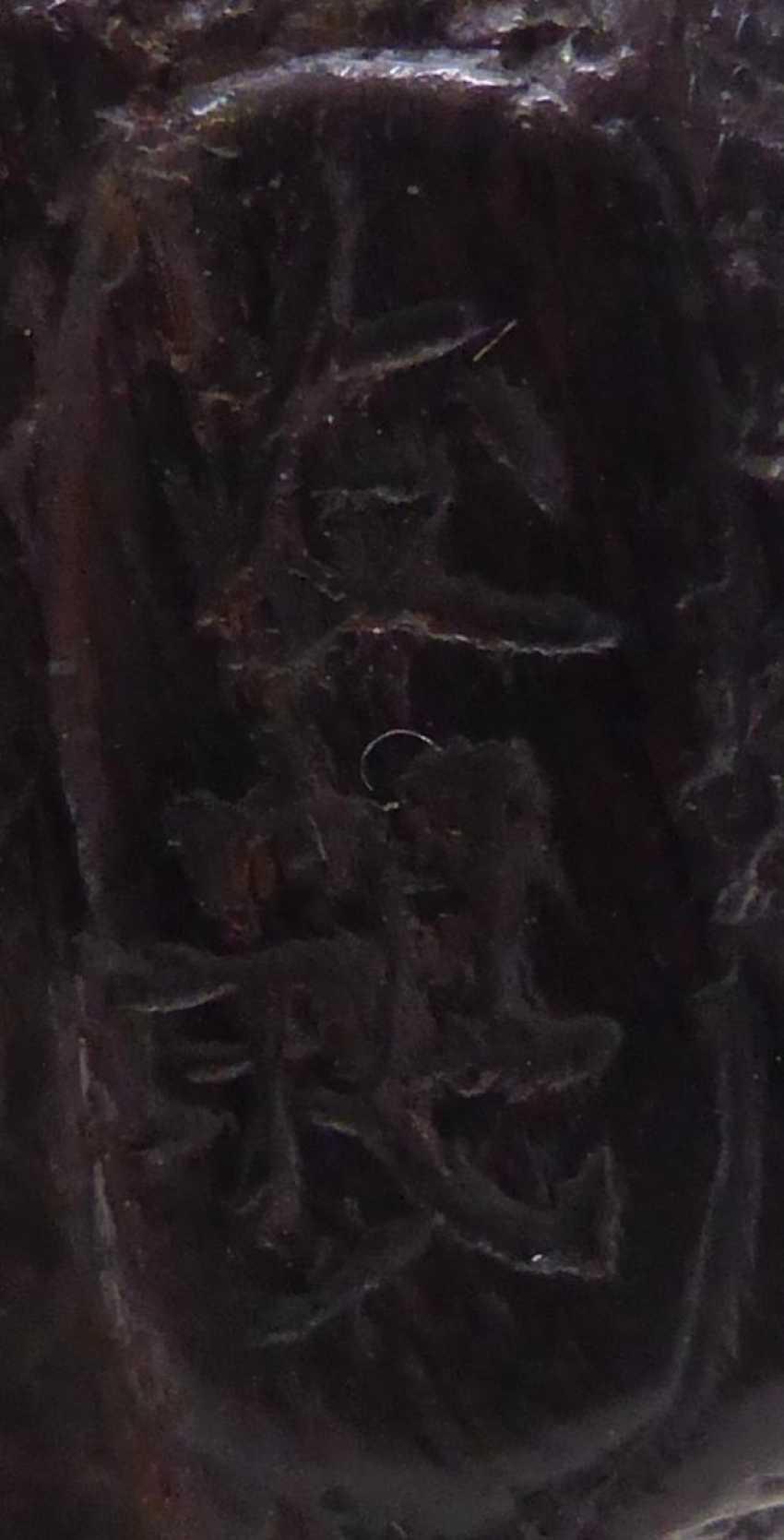 Netsuke: Äffchen auf Felsen - Foto 2