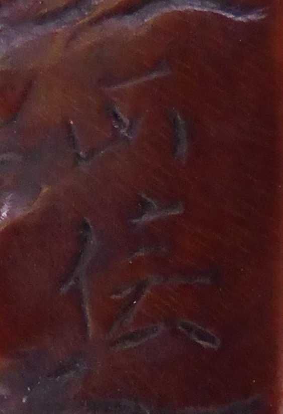 Netsuke: Awabi shell with fish head - photo 2