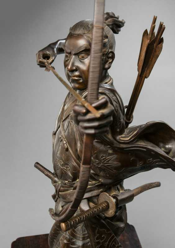 Bronze of an Archer guarding it with a drawn bow - photo 2