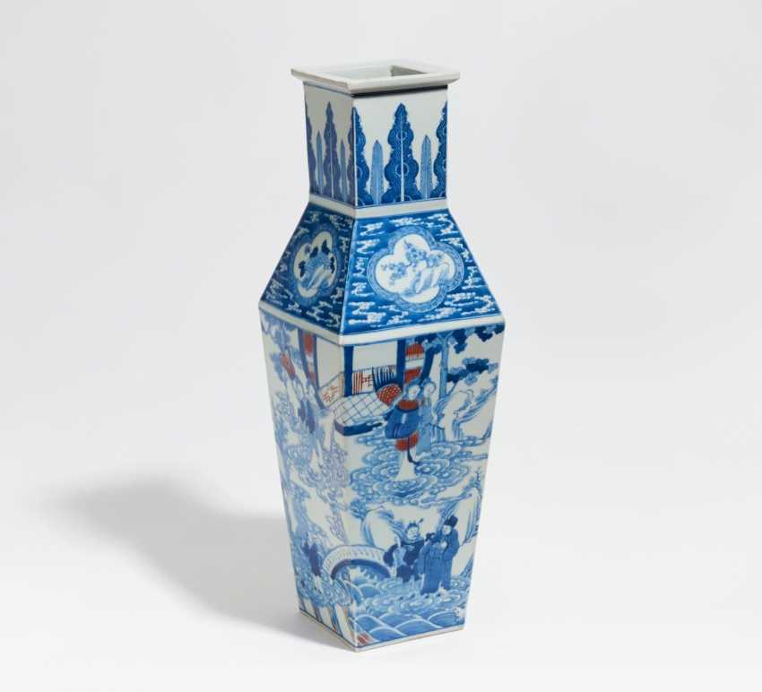 Great fishing Zun-Vase with figures - photo 1