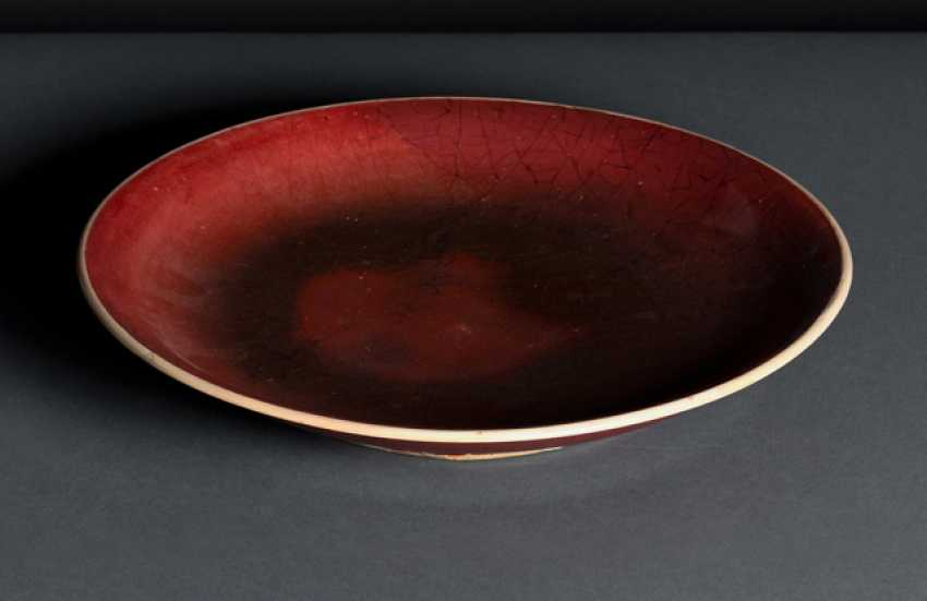 China Push Plate White Crackle Glaze Porcelain