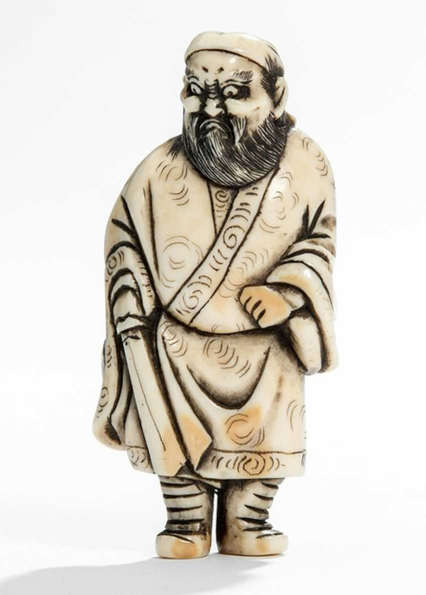 Netsuke of Shôki ivory - photo 1