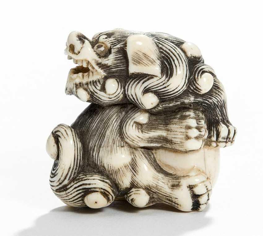 Netsuke of a Shishi ivory - photo 1
