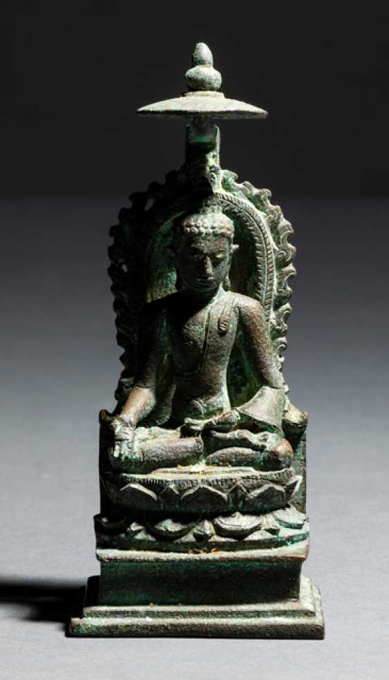 Bronze des Buddha Shakyamuni - photo 1