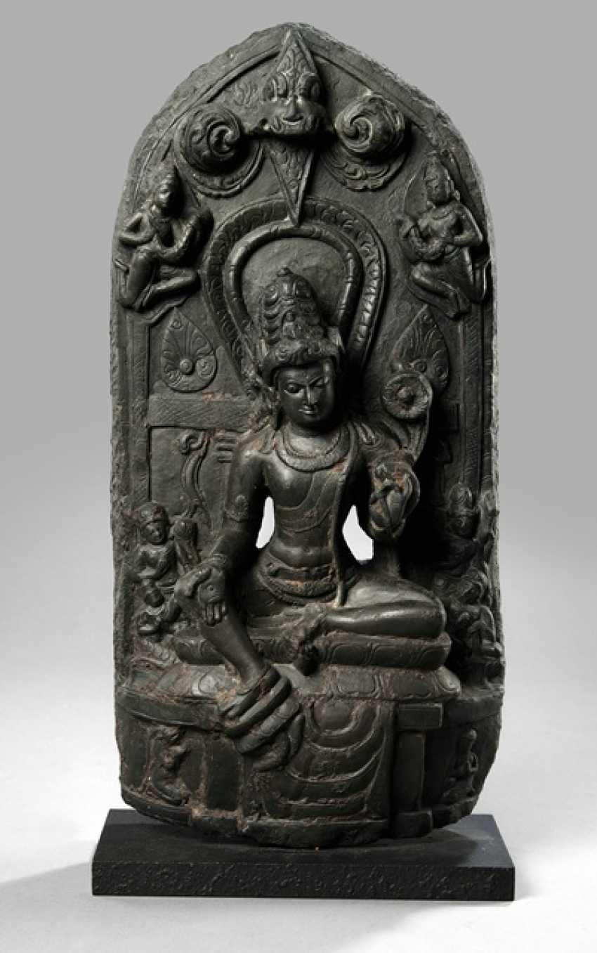 Stele of Avalokiteshvara, black Phylitt - photo 1