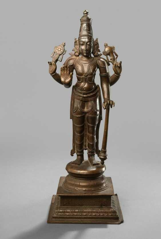Bronze of Vishnu on a Stand - photo 1