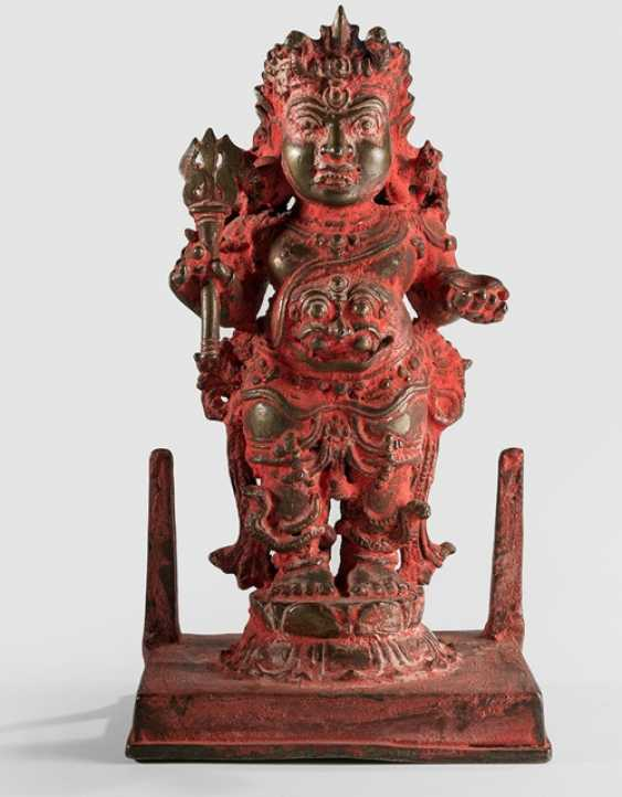 Bronze Bhairava with red color - photo 1
