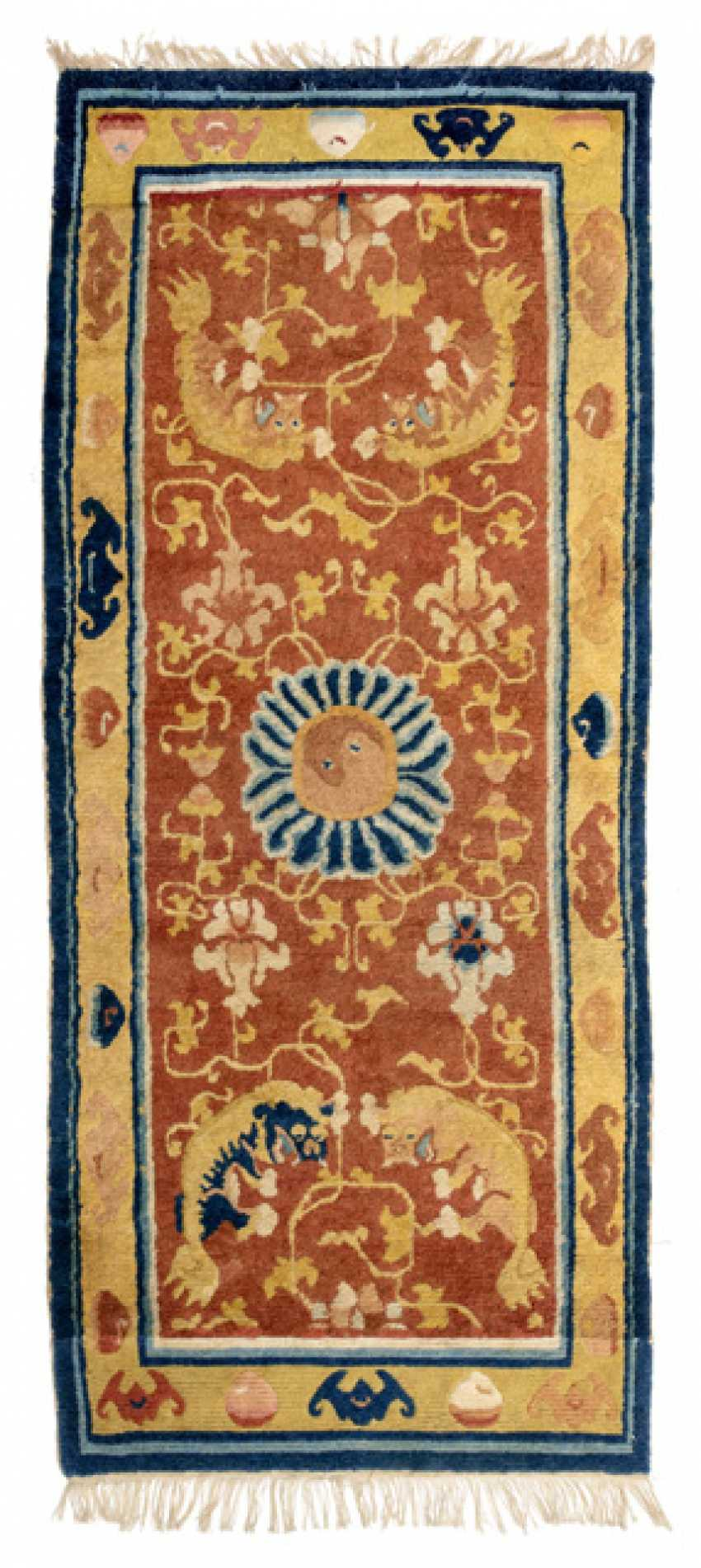 Carpet With Fo Lions Vines And Bats Photo 1