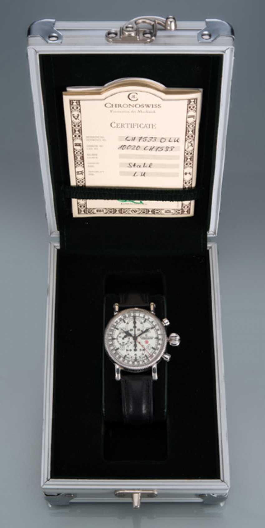 Chronoswiss Timemaster GMT Chronograph, Ref. CH 7533 D LU - photo 2