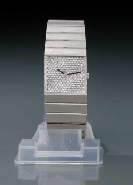 Rolex, King Midas, Ref. 3584 with Pave diamond dial in 18K white gold - photo 1
