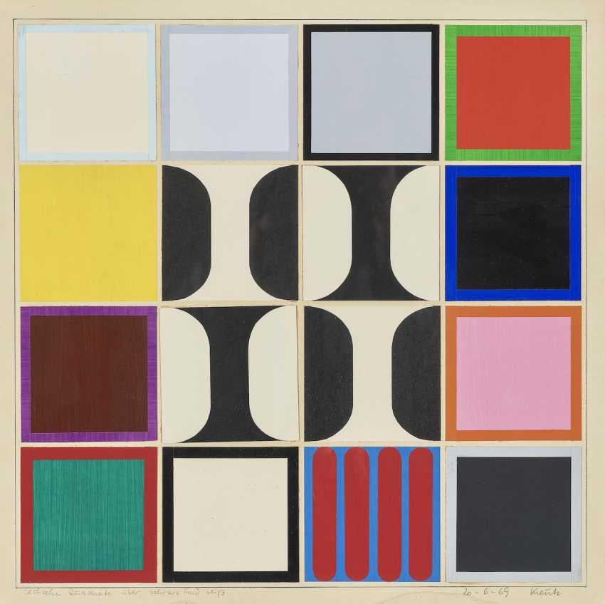 Sixteen squares on black and white. 1969 - photo 1