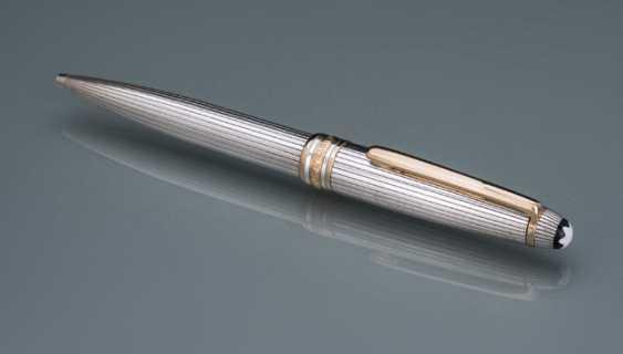 Montblanc Meisterstuck Silver Pinstripe Pattern Ballpoint Pen - photo 1