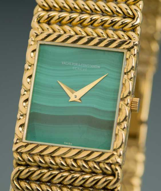 Vacheron Constantin men's watch with malachite dial, Ref. 33030/225 - photo 2