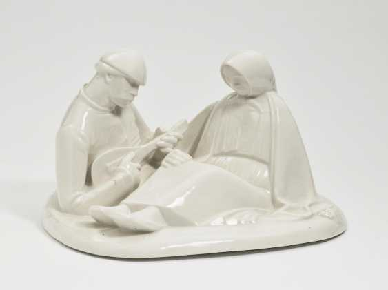 'Russian Love'. Black Burger workshops for porcelain art, white brook, In 1908, Ernst Barlach - photo 1