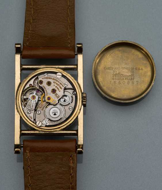 Longines unusual wrist watch 10K Gold - photo 2