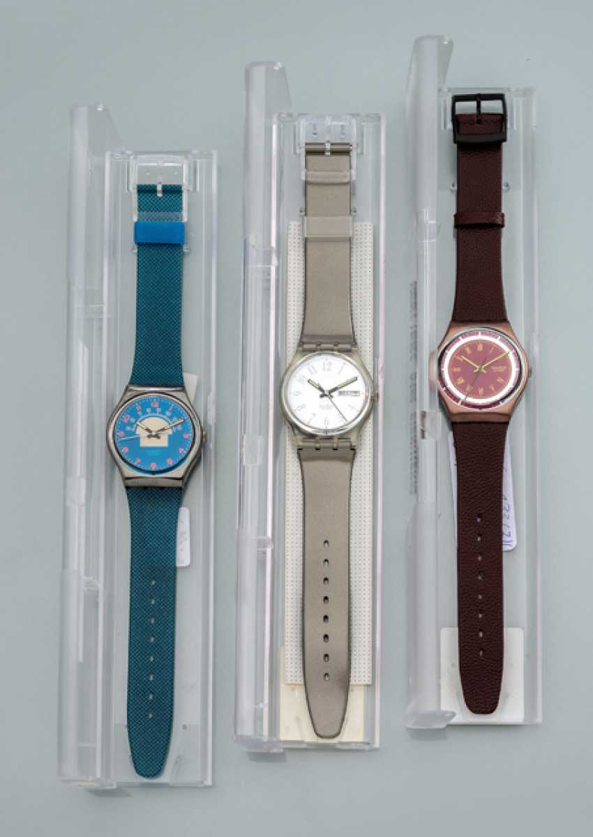 Set of three SWATCH watches - photo 1