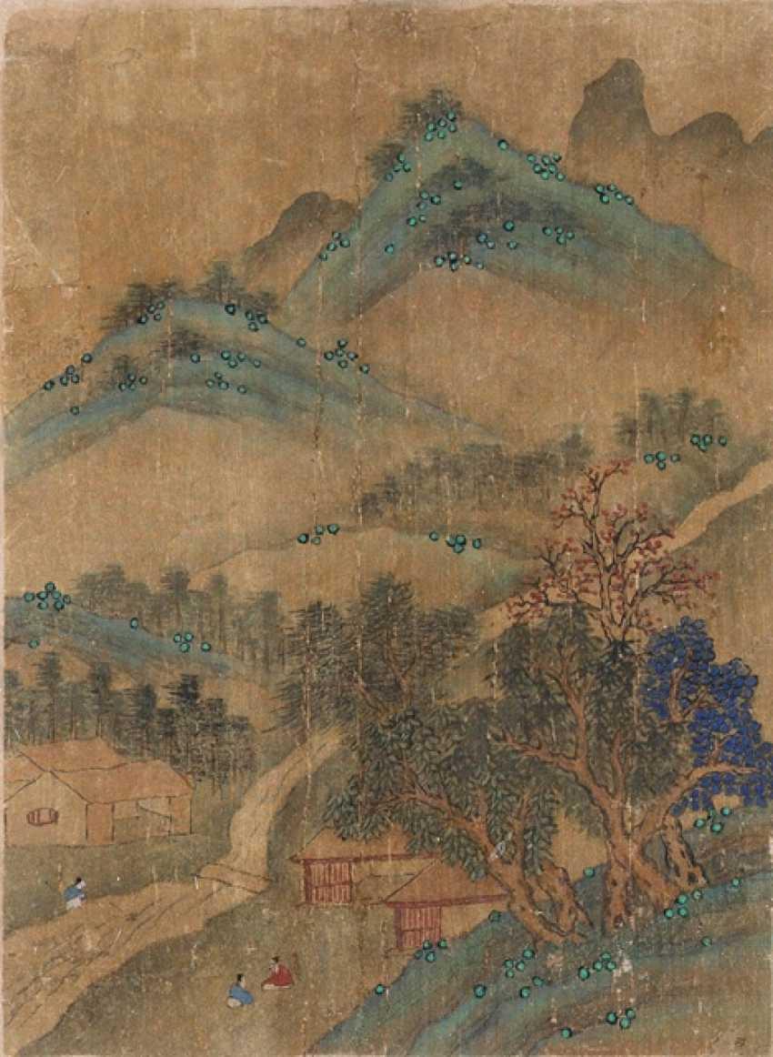 Four anonymous album leaves with landscape scenes - photo 4