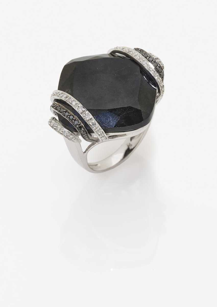 A modified cocktail ring with diamonds and Onyx. Germany, 1990s-2000s - photo 1