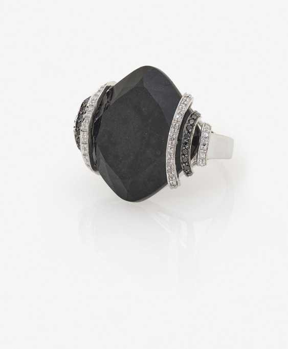 A modified cocktail ring with diamonds and Onyx. Germany, 1990s-2000s - photo 2