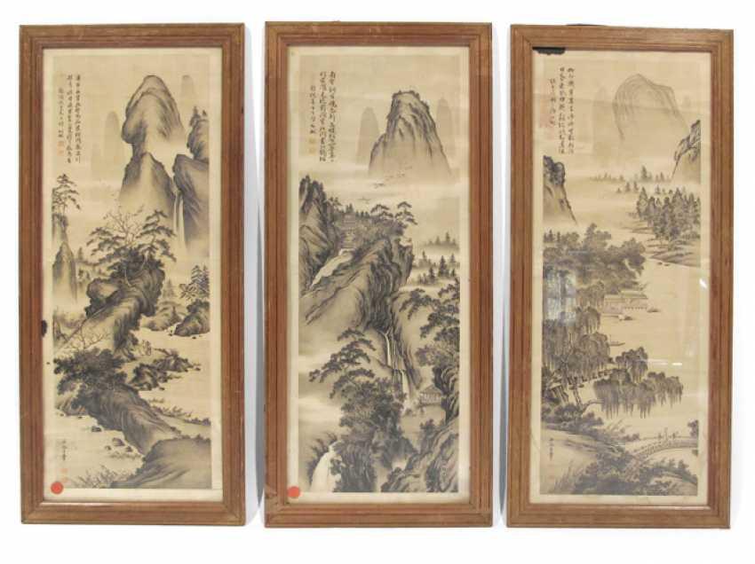Three prints with landscape views - photo 1