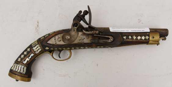 6pc antique silver finish metal gun pendant-5500