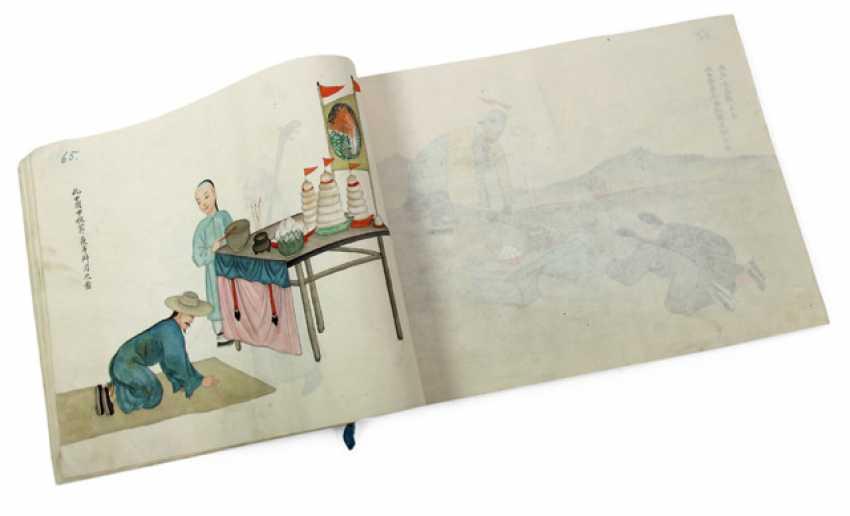 Album with 100 figurative representations, watercolor on paper - photo 1