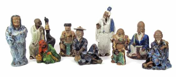 Nine-color glazed figurines made of Earthenware with a representation of old men - photo 1
