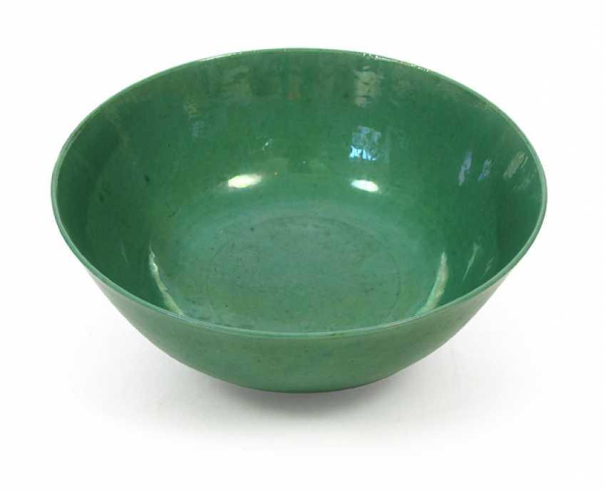 Apple green glazed porcelain bowl - photo 1