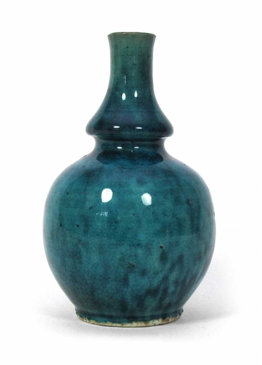 Small Vase with a speckled turquoise glaze - photo 1