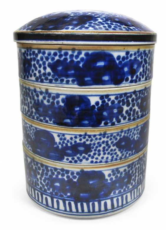 Five-piece, under glaze blue decorated food containers made of porcelain - photo 1