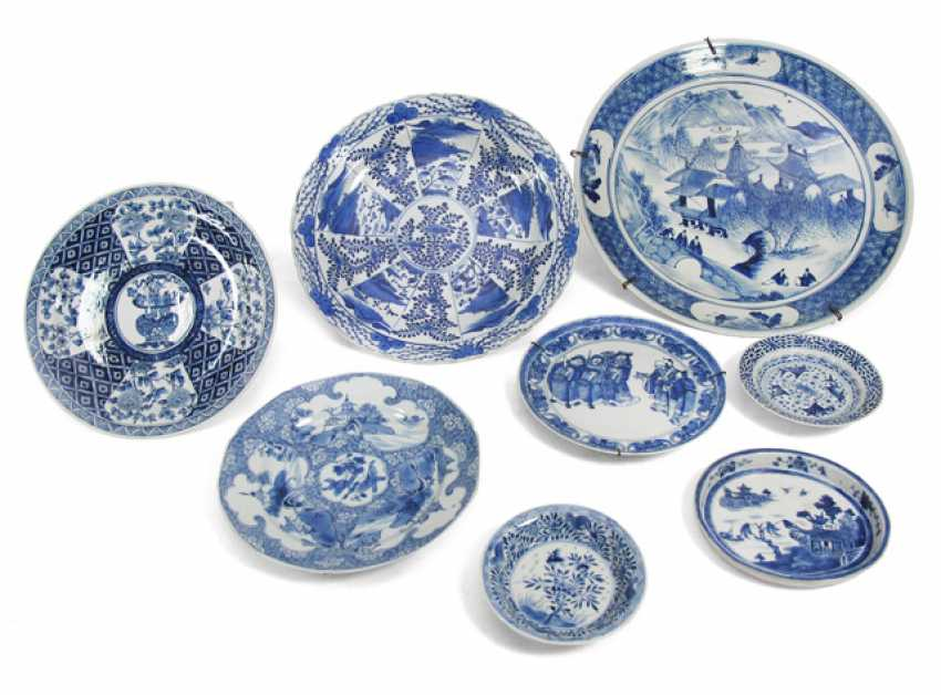Eight underglaze blue decorated porcelain plate - photo 1