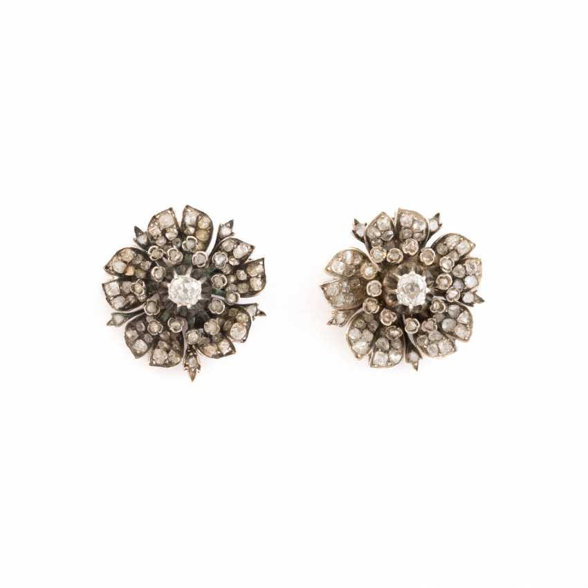 FEW HISTORICAL STUD EARRINGS WITH DIAMOND TRIM - photo 1