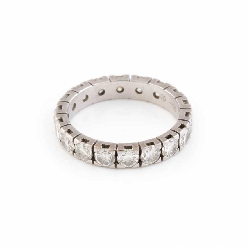 ETERNITY RING WITH DIAMOND TRIMMING - photo 1