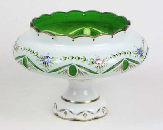 Artistic glass products with flower painting - photo 1