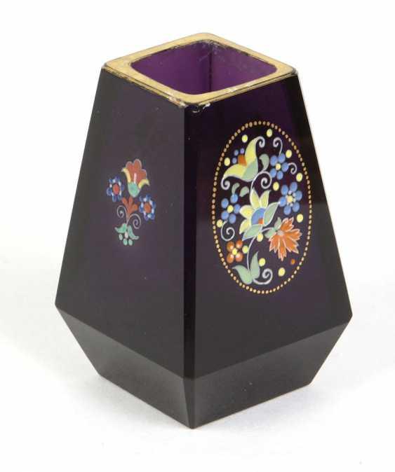 Vase with enamel painting  - photo 1