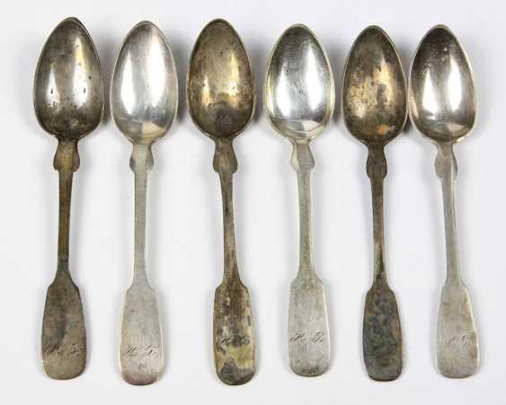 Set Of Coffee Spoons Spade Shape - photo 1