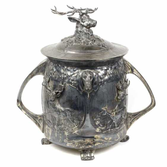 hunting medieval art Nouveau Punch bowl, around 1900 - photo 1