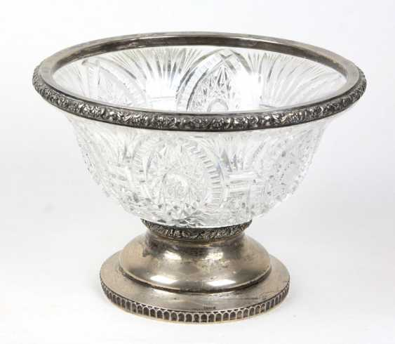 Crystal bowl with silver cap - photo 1