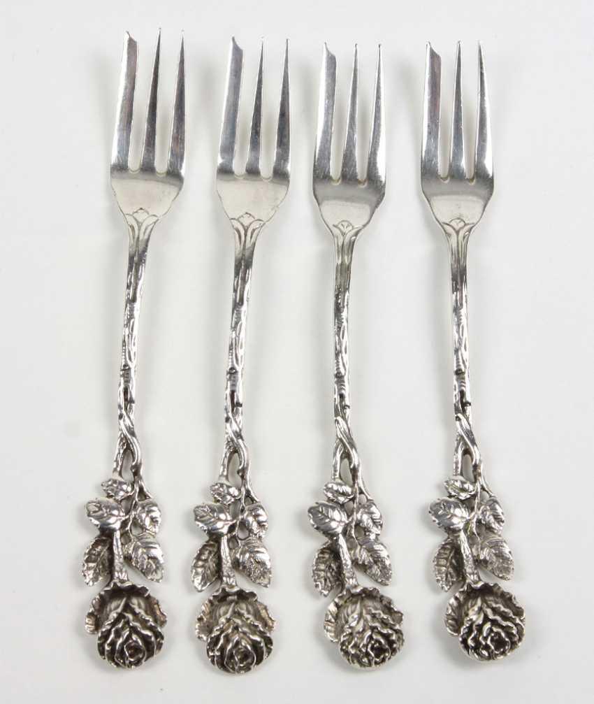 Set Of Cake Forks *Rose* - photo 1