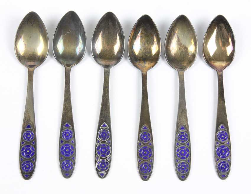 Set of Russian spoon with enamel - photo 1