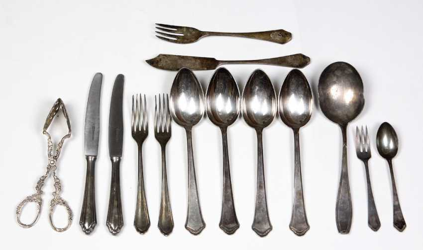 silver fish Cutlery set, from nobility possession, etc - photo 1