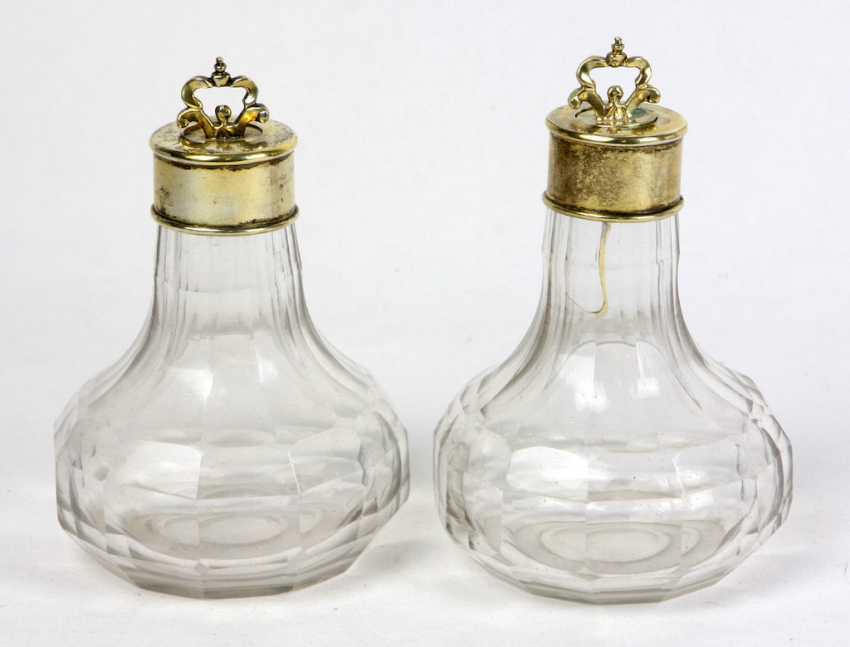 Bottle Pair with silver cap 19. Century - photo 1