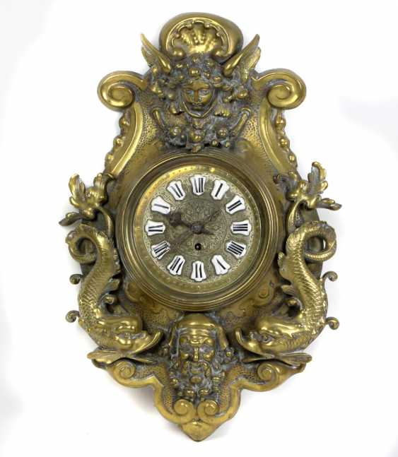 Historicism wall clock 1880 - photo 1