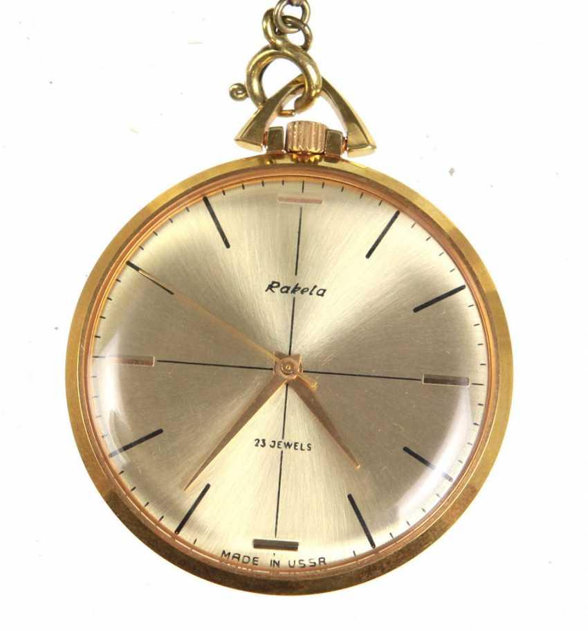 Pocket watch *Raketa* with chain - photo 1