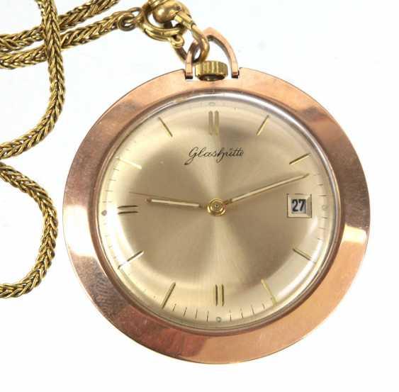Pocket watch *glassworks* with chain - photo 1