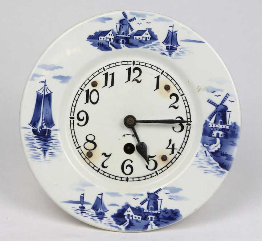 Wall Clock Delft Blue Decor - photo 1